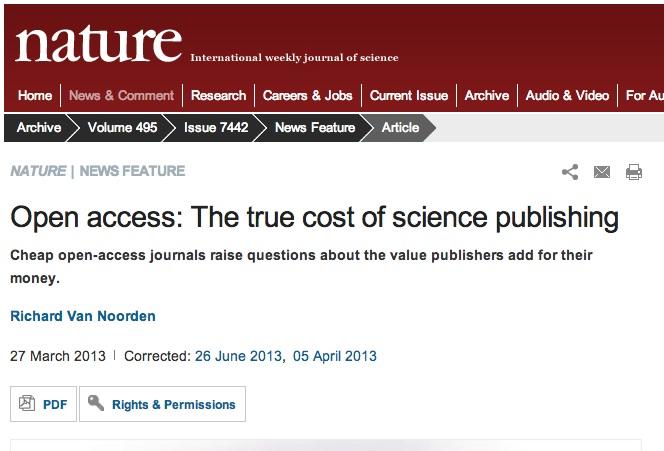 Science OA nature
