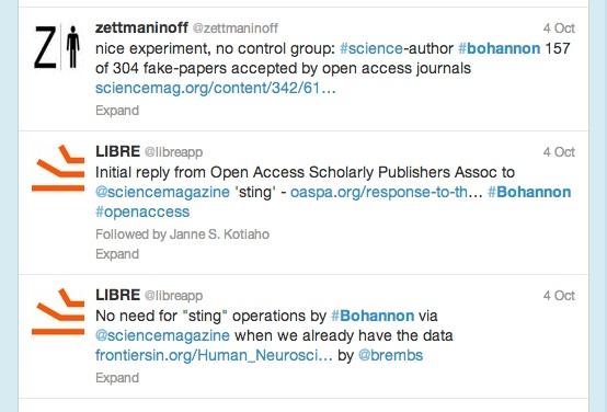 Science OA tweets