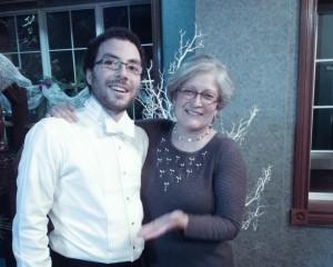 Sudbury 2013_Bazely (proud supervisor!) & Tanentzap