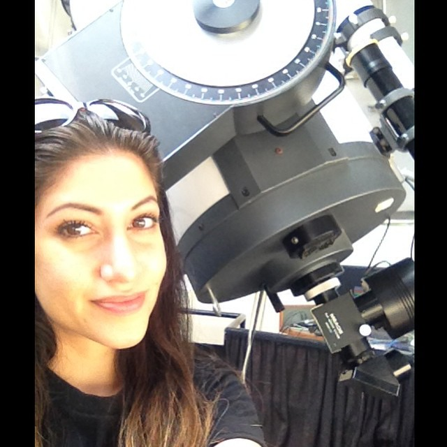 Jennifer at the york university observatory