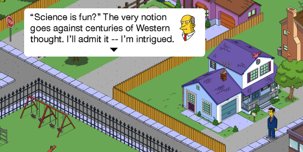 Science is Fun Simpson's Tapped Out game cropped