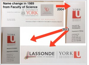 York Letterheads over the years