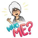 "Bitmoji avatar ""Who me?"""