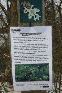 High Park restoration ecology