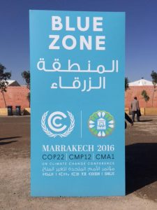 COP22 Welcome sign. Photo Credit: Irena Creed