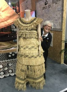 Dawn Bazely at the Fiji Pavilion in the Bonn Zone at COP23