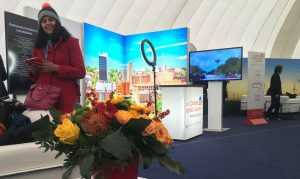 Sapna Sharma in USA off-site climate action domes