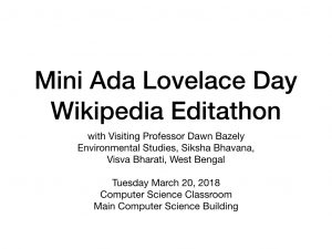 Wikipedia Editathon Slide 1