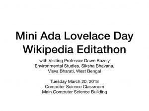Wikipedia Editathon Slide 1