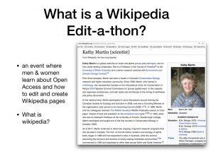 Wikipedia Editathon Slide 3