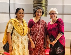 Professors Shibani Chaudhury (Visva Bharati), Joyashree Roy (Asian Institute of Technology & Jadavpur University), Dawn Bazely