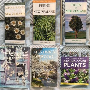 Some of Lawrie Metcalfe's botany books