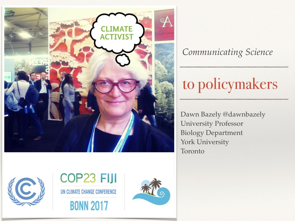 Slide 1 of my talk on communicating your science to policymakers