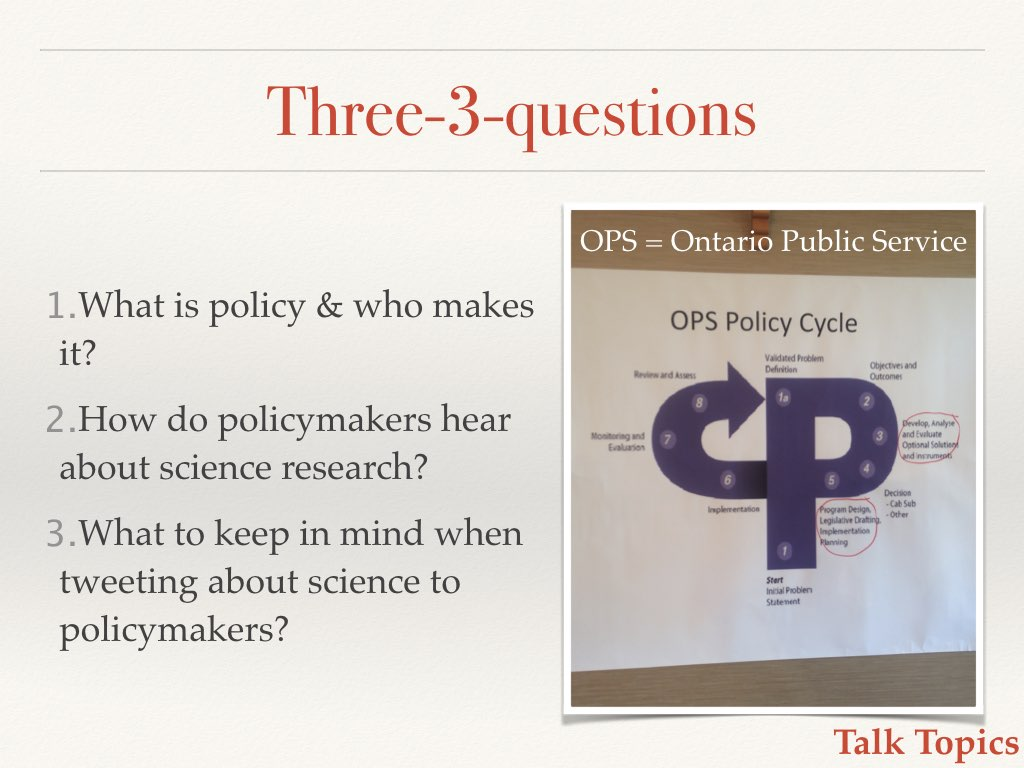 What is policy and who makes it? Slide 3 of my talk on communicating your science to policymakers