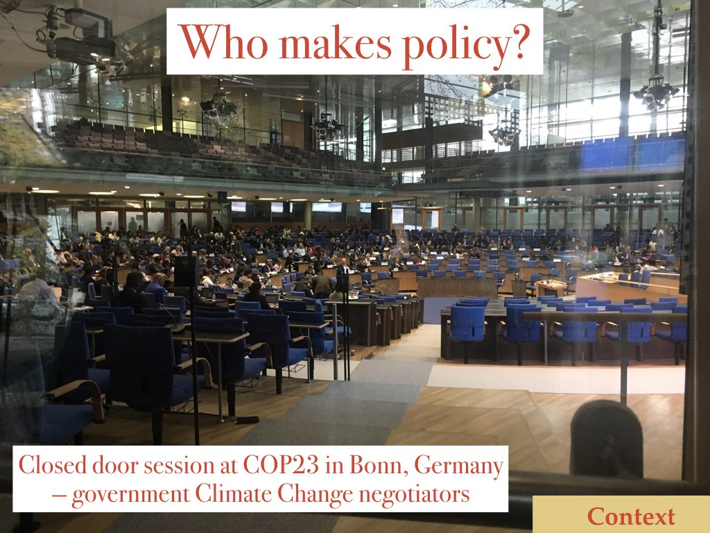 COP23 negotiators in Bonn Germany Slide 5 of my talk on communicating your science to policymakers