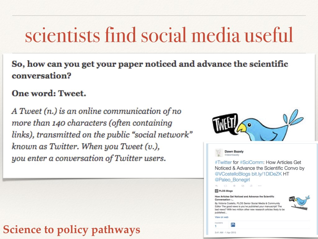 Social media amplifies science Slide 11 of my talk on communicating your science to policymakers