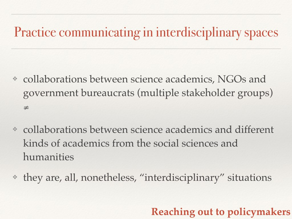 Interdisciplinarity defined Slide 14 of my talk on communicating your science to policymakers