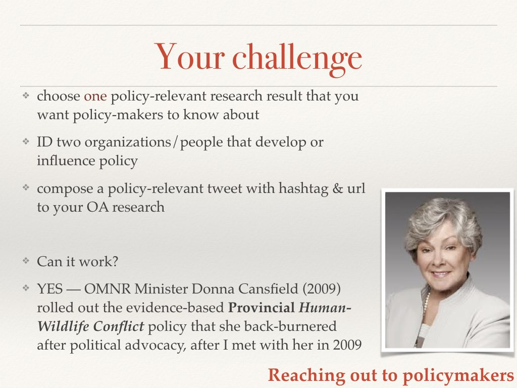 Your challenge/homework Slide 17 of my talk on communicating your science to policymakers