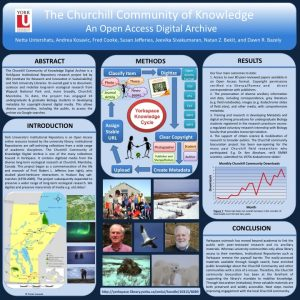 2013 Conference Poster about Churchill Community of Knowledge