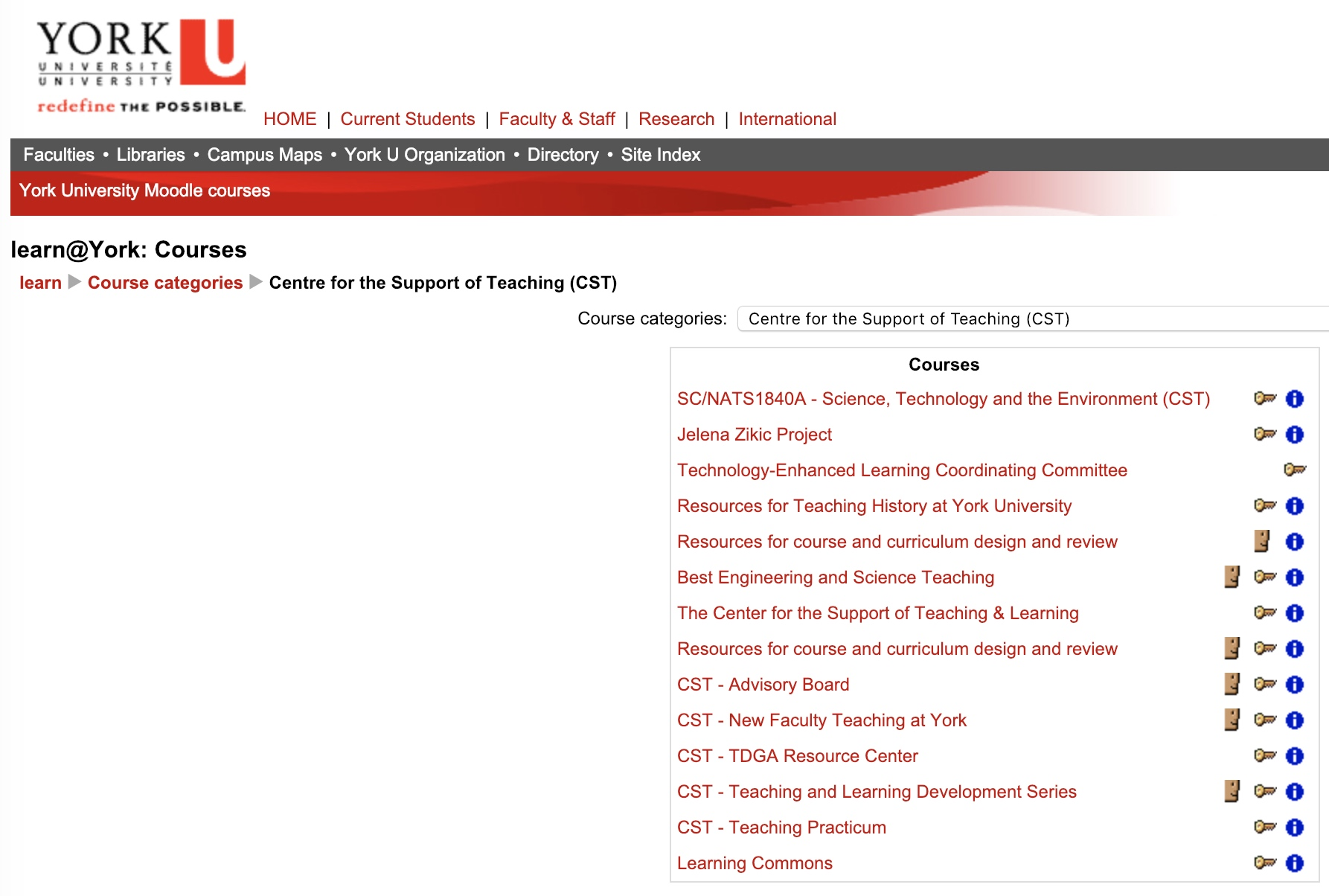 Some York University Centre for Support of Teaching Courses