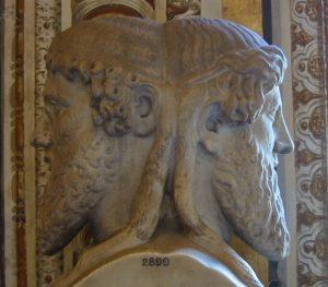Head of Janus on a Vatican statue