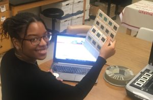 Ms Cheyenne Gumbs working in my lab in 2019