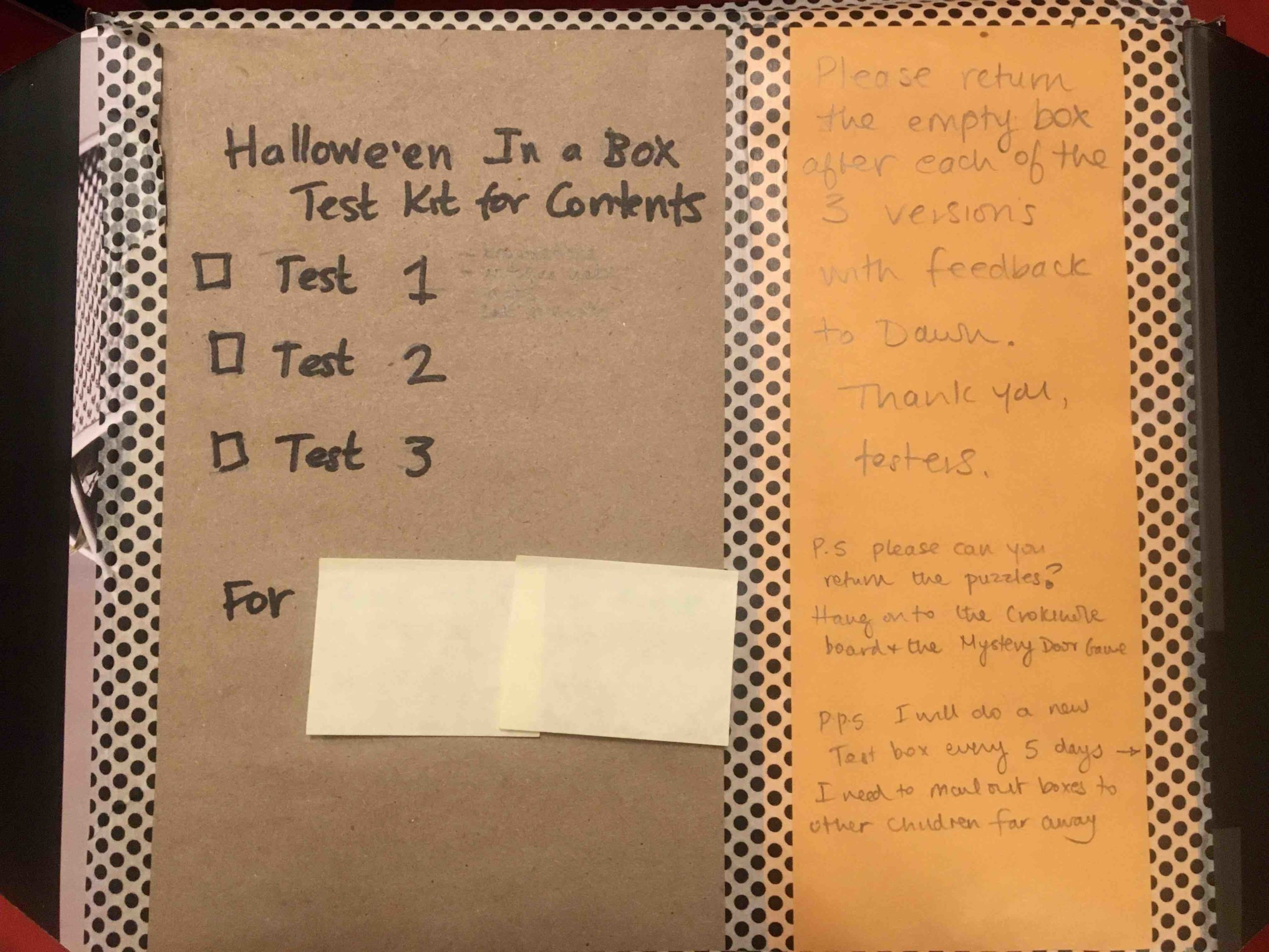 trick or treat kit for testing